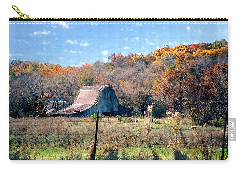 Landscape Carry-all Pouch featuring the photograph Barn In Liberty Mo by Steve Karol