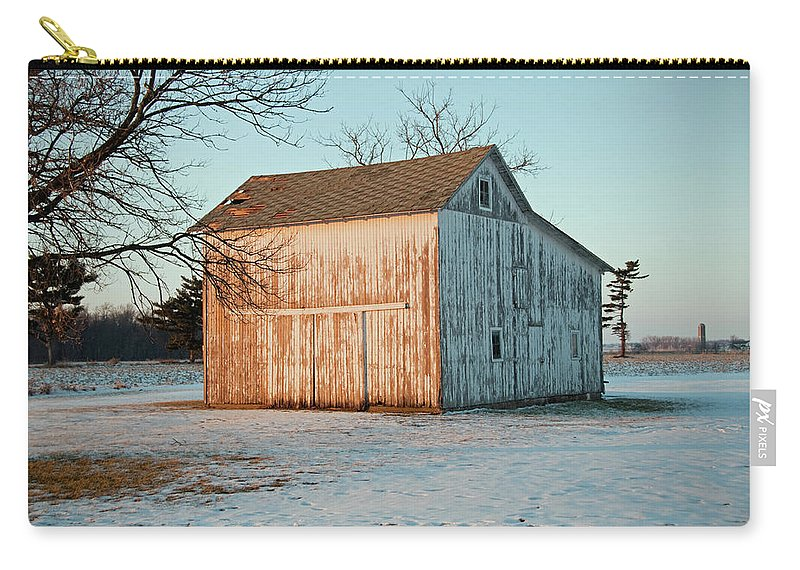 Barn Carry-all Pouch featuring the photograph Barn Late Afternoon by David Arment