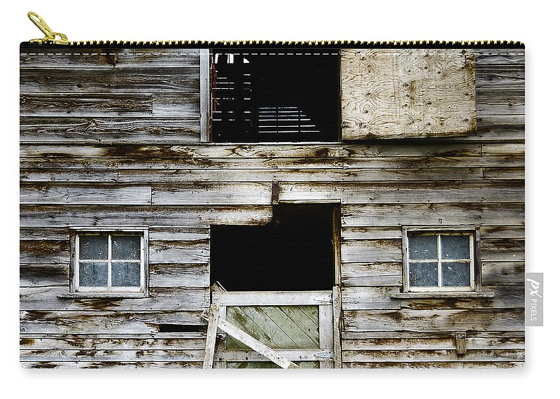 Barn Carry-all Pouch featuring the photograph Barn Side by Wayne Sherriff