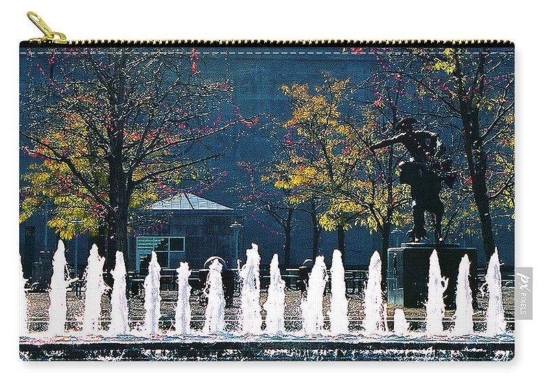 Landscape Carry-all Pouch featuring the photograph Barney Allis Plaza-kansas City by Steve Karol