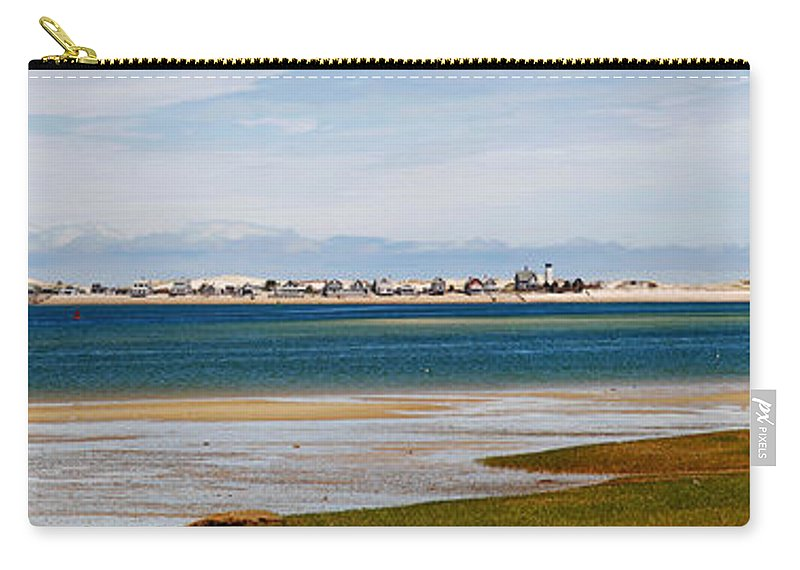 Barnstable Carry-all Pouch featuring the photograph Barnstable Harbor Panorama by Charles Harden