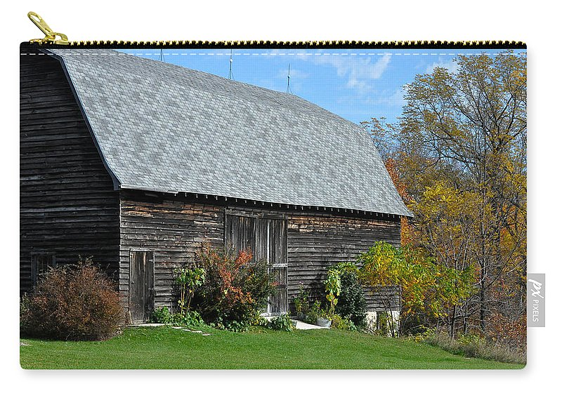 Barn Carry-all Pouch featuring the photograph Barnwood by Tim Nyberg