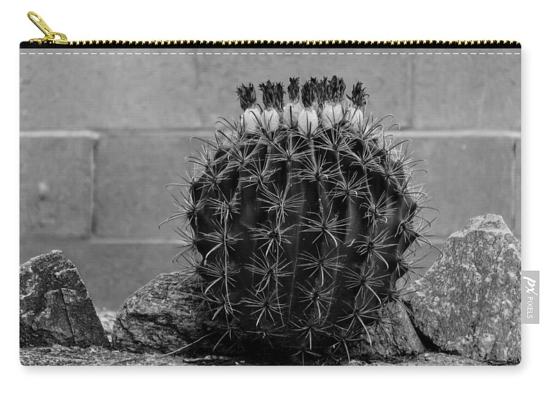 Oro Valley Carry-all Pouch featuring the photograph Barrel Against Wall No51 by Mark Myhaver