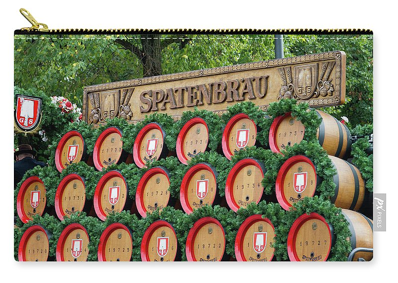 Beer Carry-all Pouch featuring the photograph Barrels by Bernard Barcos