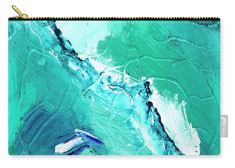 Abstract Carry-all Pouch featuring the painting Barrier Reef by Dominic Piperata