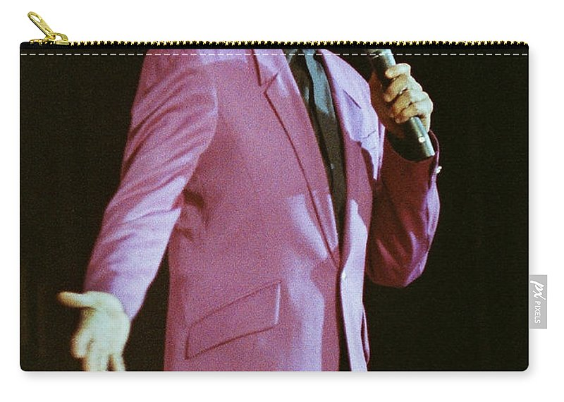 Barry Manilow Carry-all Pouch featuring the photograph Barry Manilow-0774 by Gary Gingrich Galleries