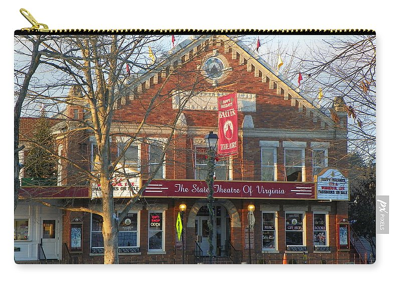 Barter Theatre Carry-all Pouch featuring the photograph Barter Theatre by Karen Wiles