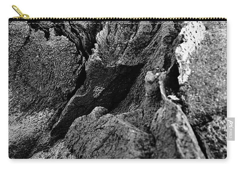 Basalt Carry-all Pouch featuring the photograph Basalt Textures by Gaspar Avila