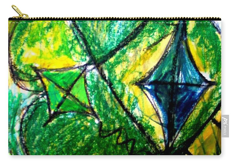 Painting Carry-all Pouch featuring the painting Basant by Fareeha Khawaja