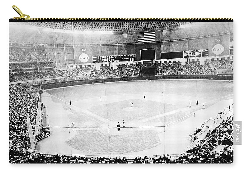 1965 Carry-all Pouch featuring the photograph Baseball: Astrodome, 1965 by Granger