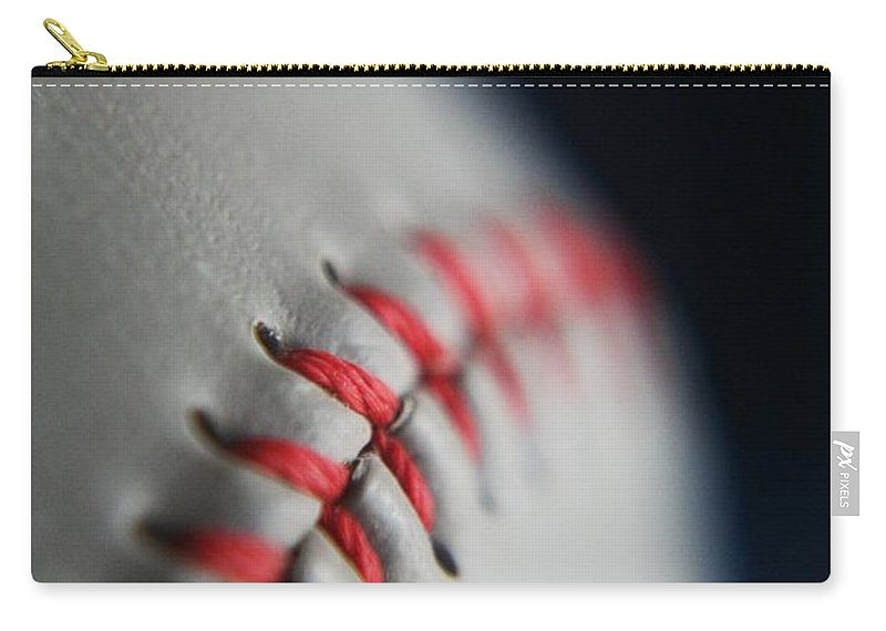 Photograph Carry-all Pouch featuring the photograph Baseball Fan by Rachelle Johnston