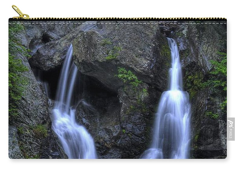 Waterfall Carry-all Pouch featuring the photograph Bash Bish Falls by Scott Wyatt