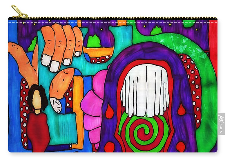 Abstract Carry-all Pouch featuring the digital art Basic by Pennie McCracken