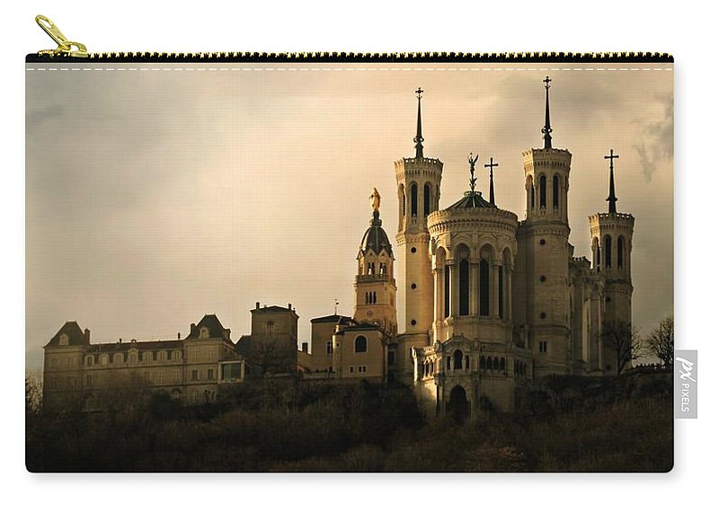 Famous Carry-all Pouch featuring the photograph Basilica Of Our Lady Of Fourviere by Katie Wing Vigil