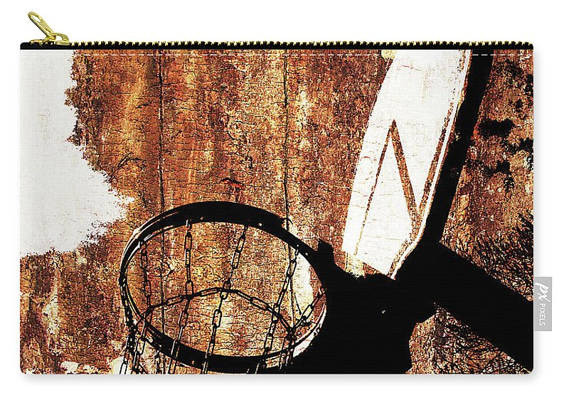 Basketball Carry-all Pouch featuring the digital art Basketball Hoop Version 6 by Takumi Park
