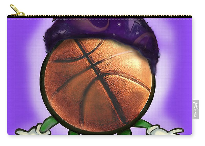 Basketball Carry-all Pouch featuring the greeting card Basketball Wizard by Kevin Middleton