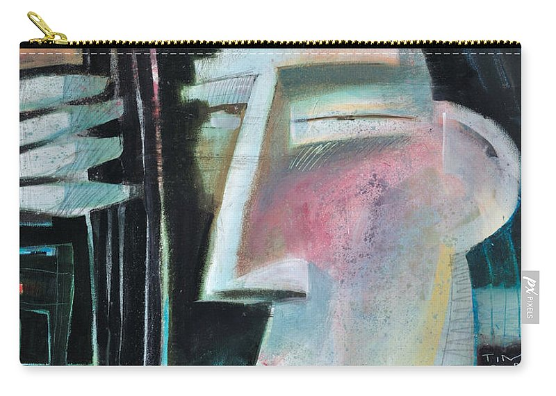 Jazz Carry-all Pouch featuring the painting Bass Face by Tim Nyberg