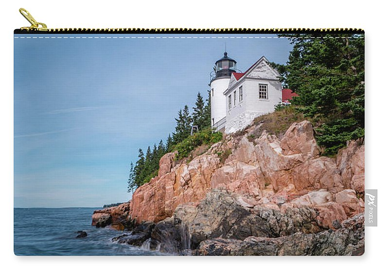 Bass Harbor Carry-all Pouch featuring the photograph Bass Harbor Head Lighthouse by DiFigiano Photography