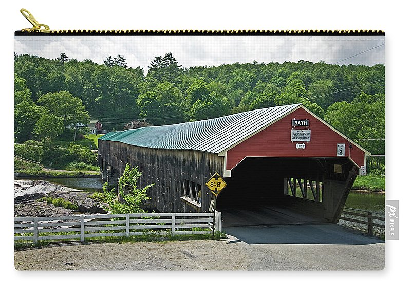 new England Covered Bridges Carry-all Pouch featuring the photograph Bath Bridge by Paul Mangold