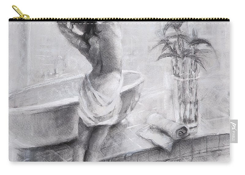 Bath Carry-all Pouch featuring the painting Bathed In Light by Steve Henderson