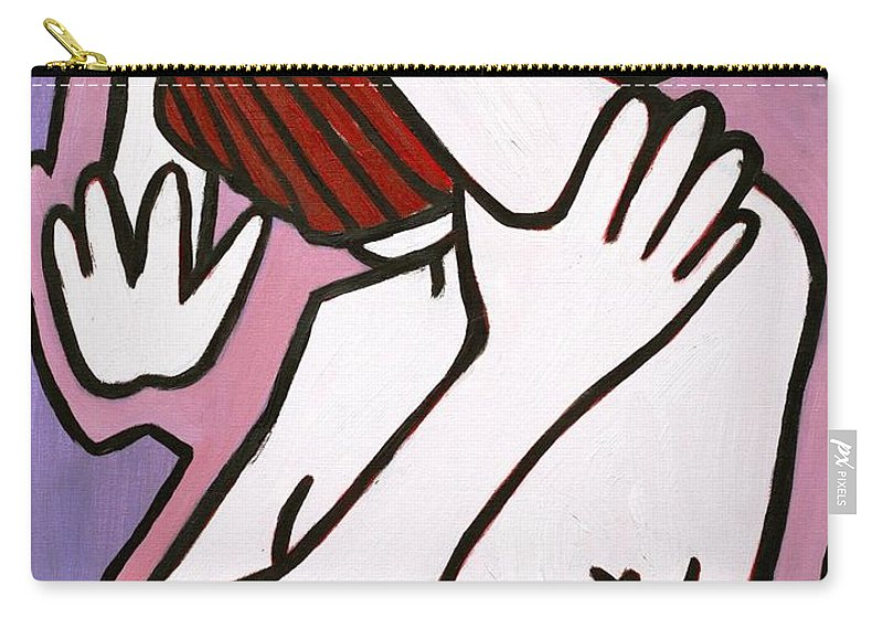Nude Carry-all Pouch featuring the painting Bather by Thomas Valentine