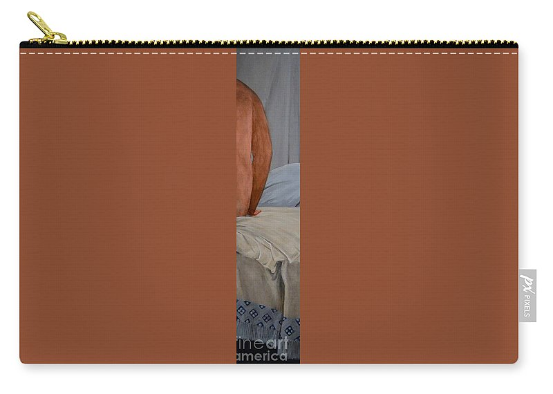 Bather Carry-all Pouch featuring the painting Bather by Wess Loudenslager