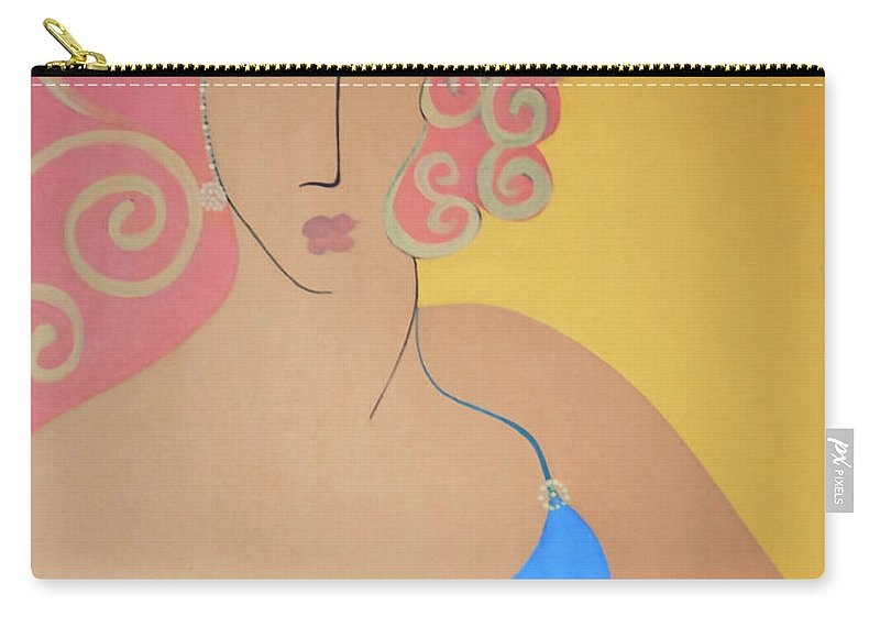 #female Carry-all Pouch featuring the painting Bathing Beauty by Jacquelinemari