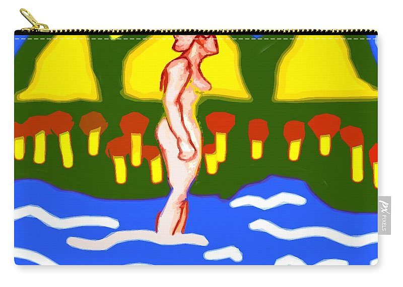 Nudes Carry-all Pouch featuring the painting Bathing In A Mountain Stream by Patrick J Murphy