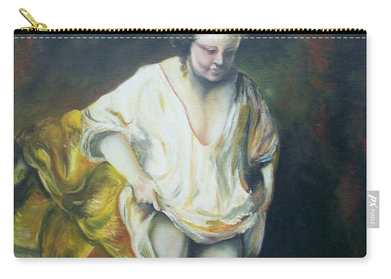 Rembrandt Carry-all Pouch featuring the painting Bathing Woman by Gary Hogben