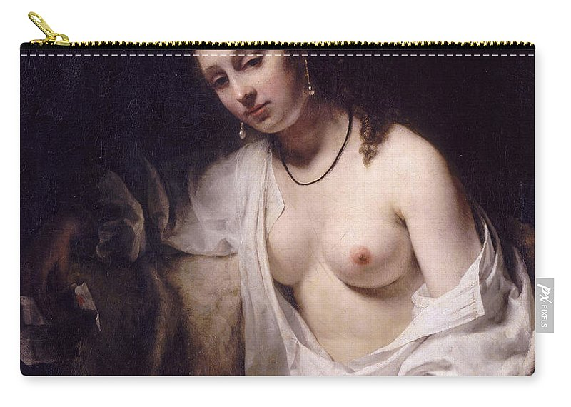 Willem Drost Carry-all Pouch featuring the painting Bathsheba With David's Letter by Willem Drost
