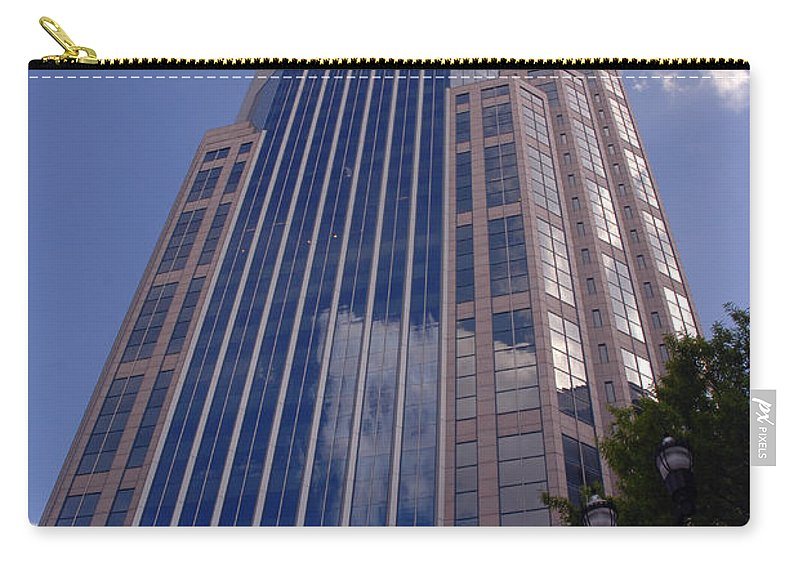 Att House Carry-all Pouch featuring the photograph Batman Building In Down Town Nashville by Susanne Van Hulst
