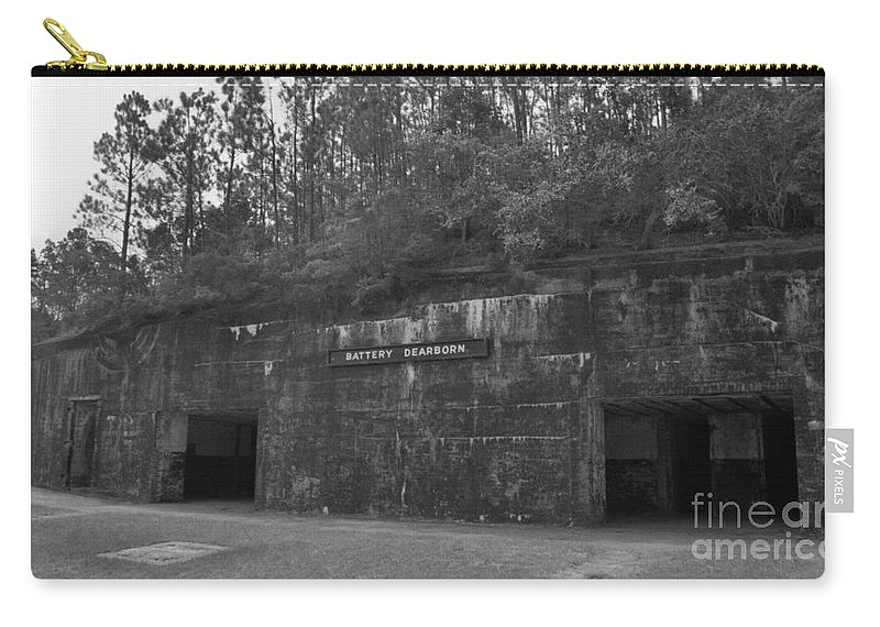 Military Carry-all Pouch featuring the photograph Battery Dearborn by Richard Rizzo