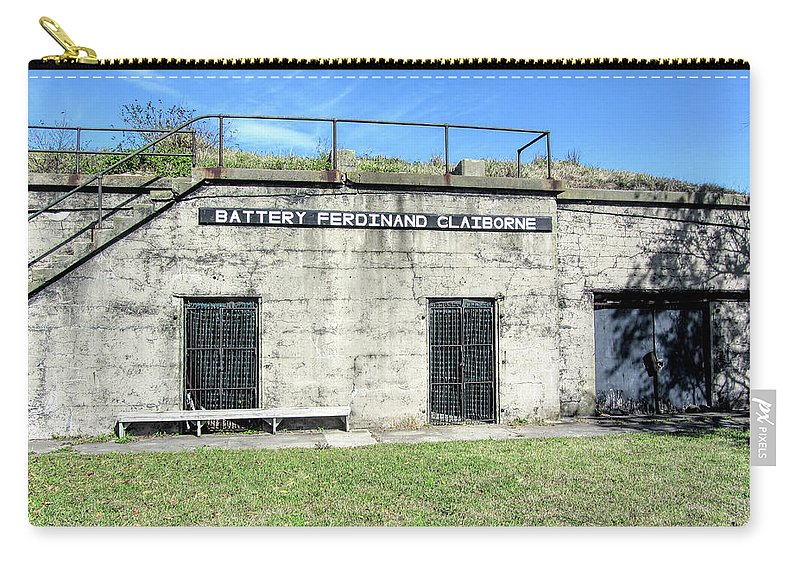 Battery Ferdinand Claiborne Carry-all Pouch featuring the photograph Battery Ferdinand Claiborne by Kathy Clark