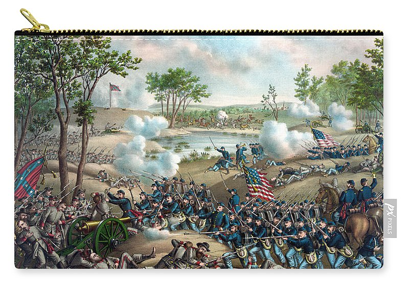 Civil War Carry-all Pouch featuring the painting Battle Of Cold Harbor by War Is Hell Store
