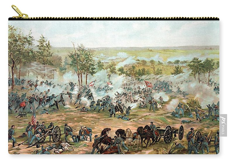 Gettysburg Carry-all Pouch featuring the painting Battle of Gettysburg by War Is Hell Store
