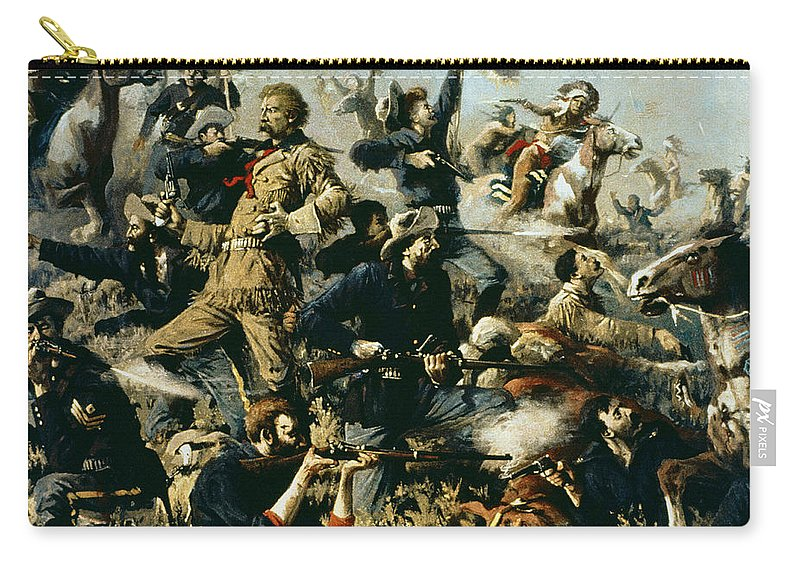 Battle Of Little Bighorn Carry-all Pouch featuring the painting Battle Of Little Bighorn by Edgar Samuel Paxson