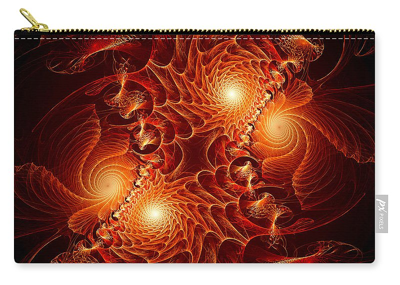 Fractal Carry-all Pouch featuring the digital art Battlefield by Archetypus Deed