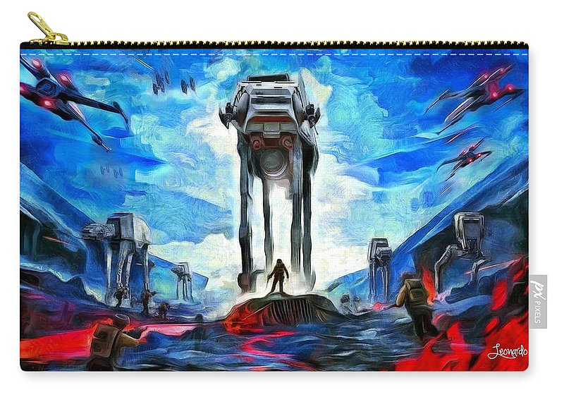 Star Wars 7 Carry-all Pouch featuring the painting Battlefield by Leonardo Digenio