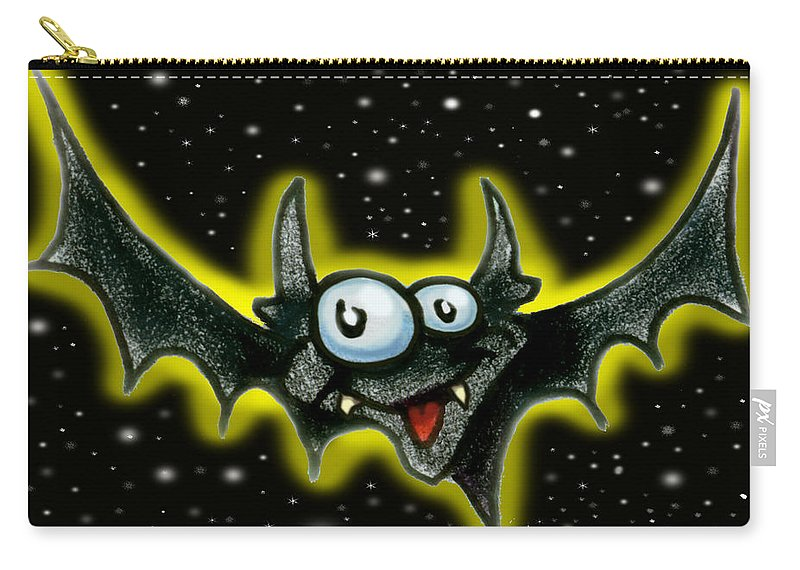 Bat Carry-all Pouch featuring the greeting card Batty by Kevin Middleton