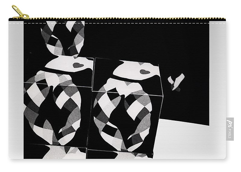 Dance Carry-all Pouch featuring the photograph Bauhaus Ballet 2 The Cubist Harlequin by Charles Stuart
