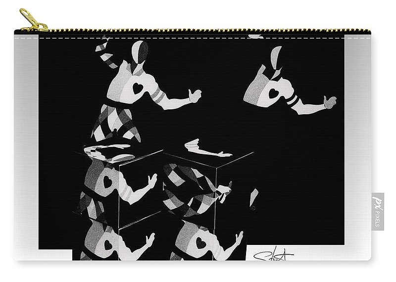 Dance Carry-all Pouch featuring the photograph Bauhause Ballet by Charles Stuart