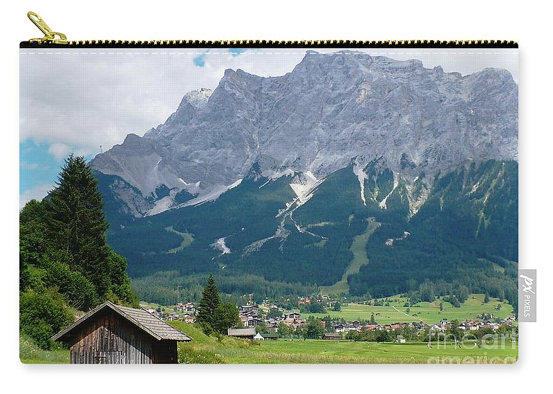 Landscape Carry-all Pouch featuring the photograph Bavarian Alps Landscape by Carol Groenen