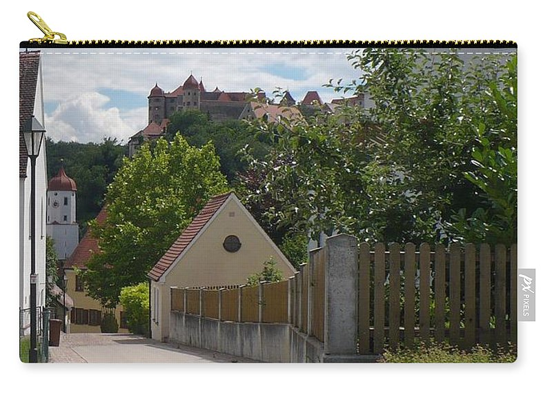 Castle Carry-all Pouch featuring the photograph Bavarian Village With Castle View by Carol Groenen