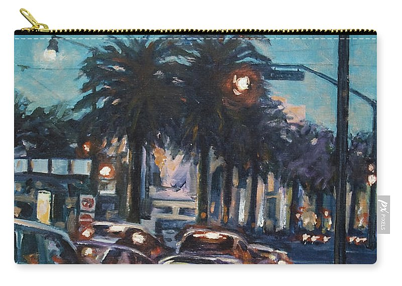 City Scape Carry-all Pouch featuring the painting Bay Bridge by Rick Nederlof