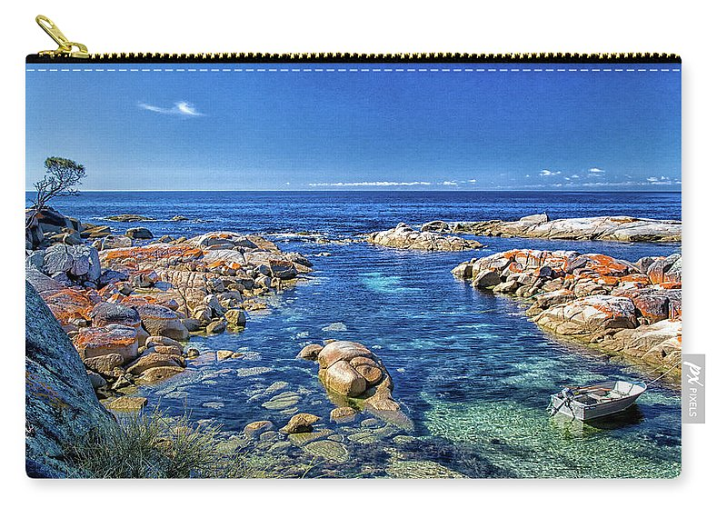 Tasmania Carry-all Pouch featuring the photograph Bay Of Fires Tasmania Australia by Hugh Howell