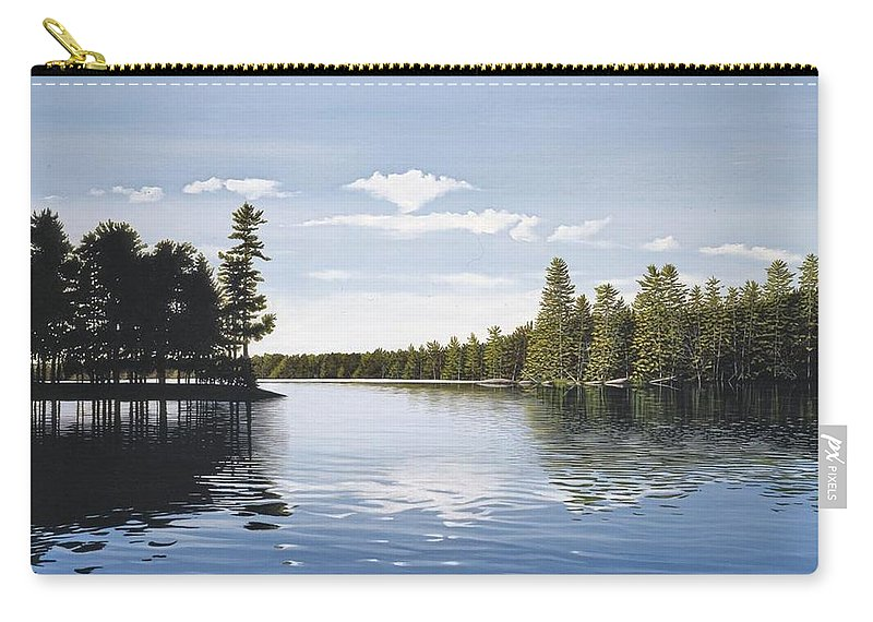Landscapes Carry-all Pouch featuring the painting Bay On Lake Muskoka by Kenneth M Kirsch