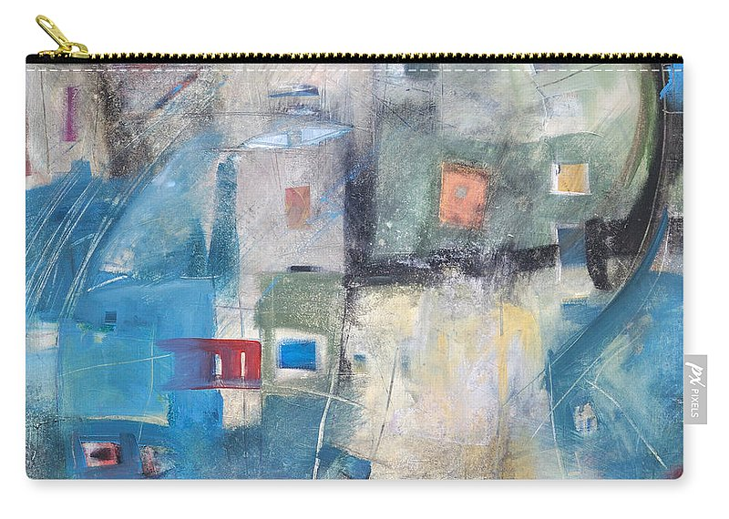 Abstract Carry-all Pouch featuring the painting Bayer Works Wonders by Tim Nyberg