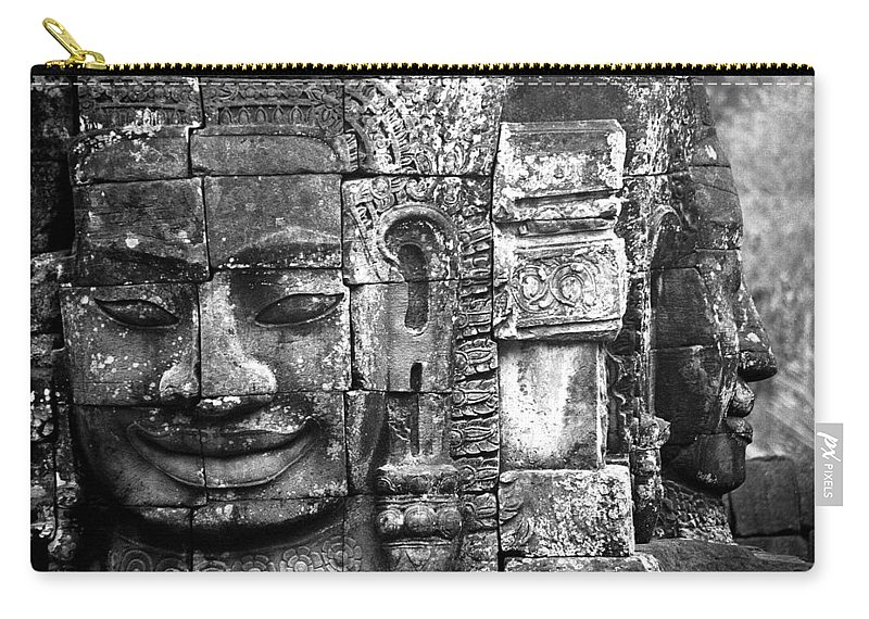 Bayon Temple Carry-all Pouch featuring the photograph Bayon IIi by Patrick Klauss