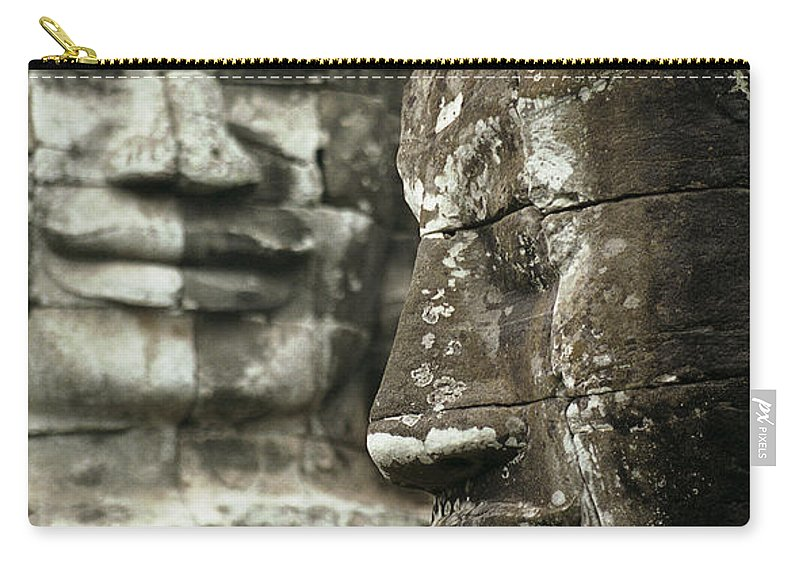 Bayon Carry-all Pouch featuring the photograph Bayonii by Patrick Klauss