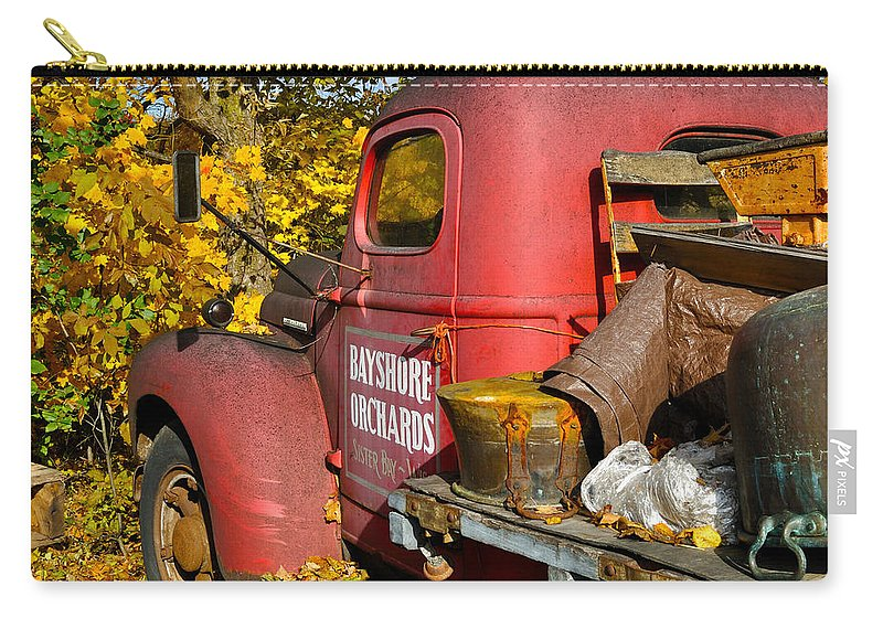 Truck Carry-all Pouch featuring the photograph Bayshore Orchards by Tim Nyberg